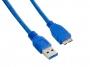 4World Kabel USB 3.0 AM-Micro BM 0.5m Blue